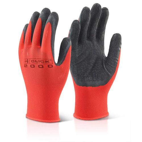 Click2000 Multi Purpose Latex Poly Glove XL Black Ref MP4BLXL [Pack 100] *Up to 3 Day Leadtime*