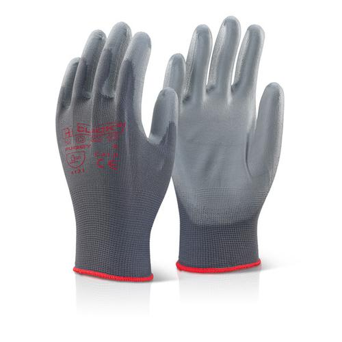 Click2000 Pu Coated Gloves Grey M Ref PUGGYM [Pack 100] *Up to 3 Day Leadtime*