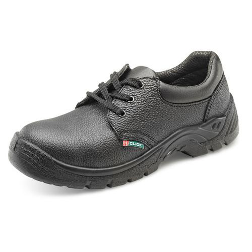 Click Footwear Double Density Economy Shoe S1 PU/Leather Size 8 Black Ref CDDS08 *Up to 3 Day Leadtime*