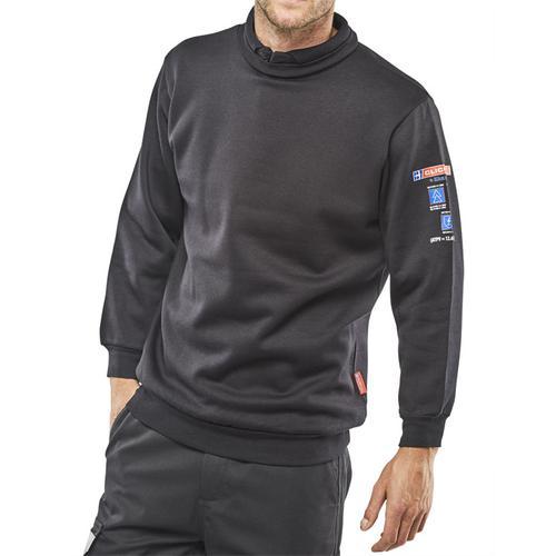 Click Arc Flash Sweatshirt Fire Retardant M Navy Blue Ref CARC3NM *Up to 3 Day Leadtime*