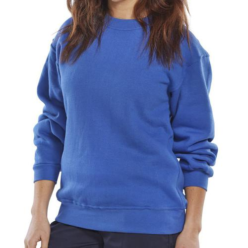 Click Workwear Sweatshirt Polycotton 300gsm 2XL Royal Blue Ref CLPCSRXXL *Up to 3 Day Leadtime*