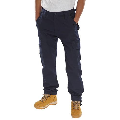 Click Workwear Combat Trousers Polycotton Size 34 Navy Blue Ref PCCTN34 *Up to 3 Day Leadtime*