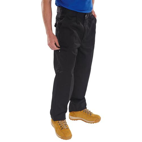 Click Heavyweight Drivers Trousers Flap Pockets Black 42 Ref PCT9BL42 *Up to 3 Day Leadtime*