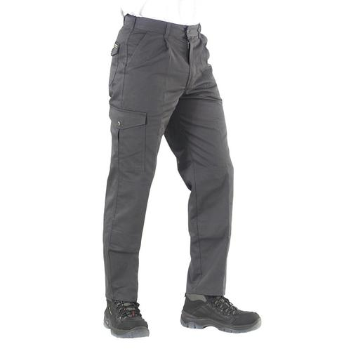 Click Heavyweight Drivers Trousers Flap Pockets Grey 44 Long Ref PCT9GY44T *Up to 3 Day Leadtime*