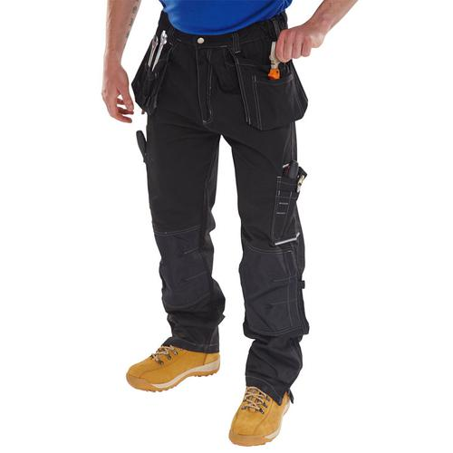 Click Workwear Shawbury Trousers Multi-pocket 34 Black Ref SMPTBL34 *Up to 3 Day Leadtime*