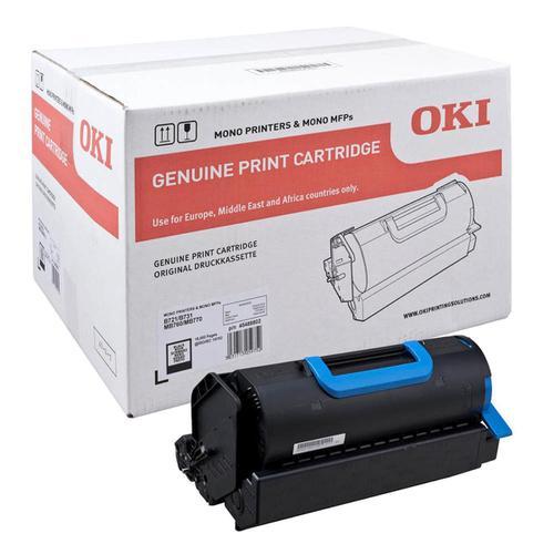 OKI Laser Toner Cartridge Page Life 18000pp Black Ref 45488802
