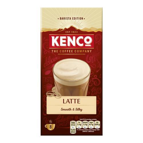 Kenco Caffe Latte Instant Sachet Ref 4031816 [Pack 8 x 5 Boxes]