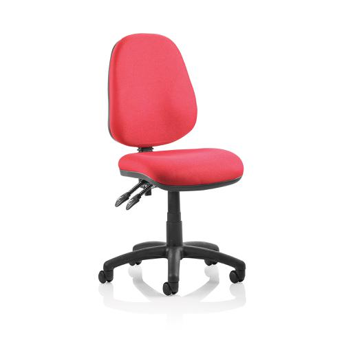 Trexus Luna II Lever Task Operator Chair Without Arms Burgundy Ref OP000078