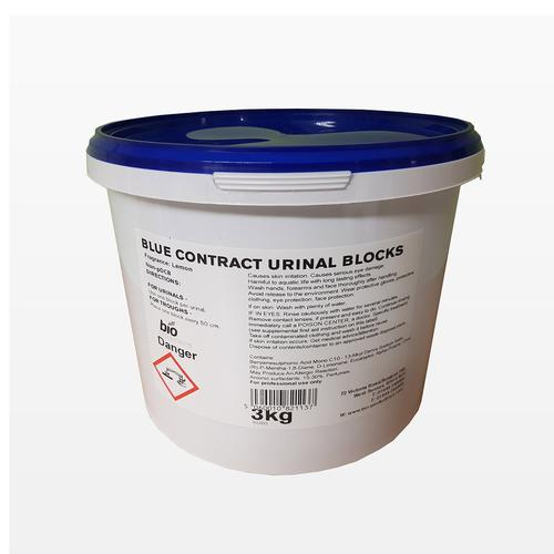Bio Productions Urinal Blocks 3kg Tub of 138 Tablets Blue Ref BUB3
