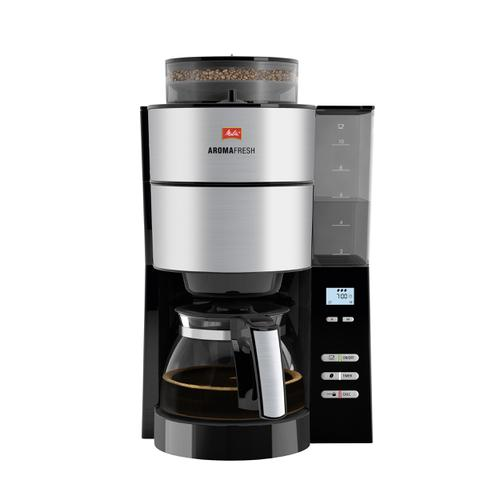 Melitta Aromafresh Grind & Brew Filter Coffee Machine Black/Stainless Steel Ref 6760642