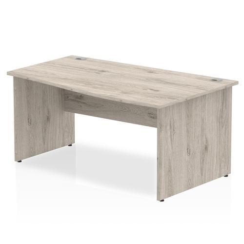 Trexus Wave Desk Right Hand Panel Leg 1600x1000/800x730mm Grey Oak Ref I003123