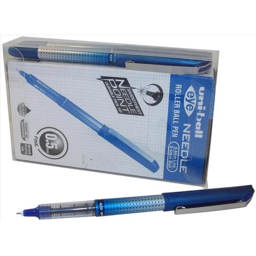 Uni-ball UB-185S Eye Needle Rollerball Pen 0.5mm Tip Blue Ref 125948000 [Pack 12]