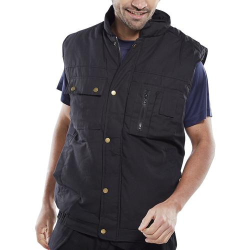 Click Workwear Hudson Bodywarmer Small Black Ref HBBLS *Up to 3 Day Leadtime*