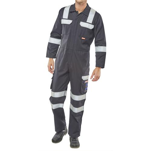 Click Arc Flash Coveralls Size 38 Navy Blue Ref CARC6N38 *Up to 3 Day Leadtime*