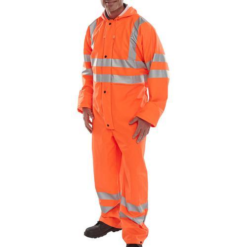 B-Seen Super B-Dri Coveralls Breathable L Orange Ref PUC471ORL *Up to 3 Day Leadtime*