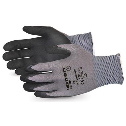 Superior Glove Dexterity Black Widow Grip High Abrasion 9 Black Ref SUS13PNT09 *Up to 3 Day Leadtime*