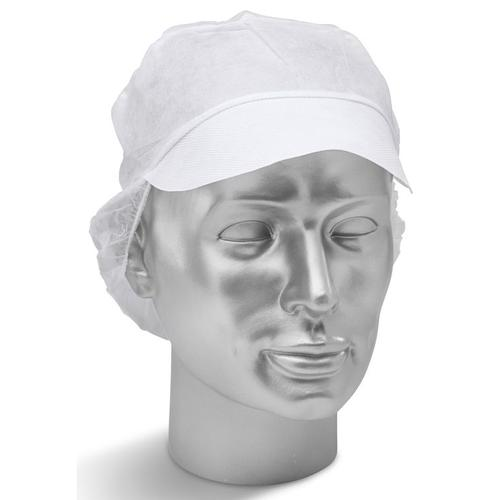Click Once Disposable Snood Cap White Ref DSCW500 [Pack 500] *Up to 3 Day Leadtime*