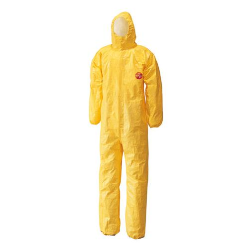 Tychem C Model CHA5 Hooded Coverall 3XL Yellow Ref TYCBSXXXL *Up to 3 Day Leadtime*