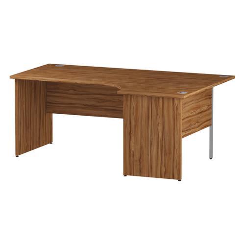 Trexus Radial Desk Right Hand Panel End Leg 1800/1200mm Walnut Ref I002141