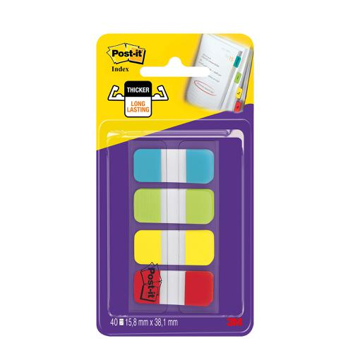 Post-it Small Index Flags Repositionable Tabs Assorted Colours [40 Flags] Ref 676-ALYR-EU