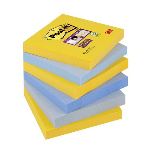 Post-it Super Sticky Notes New York 76x76mm Ref 654-6SS-NY [Pack 6]