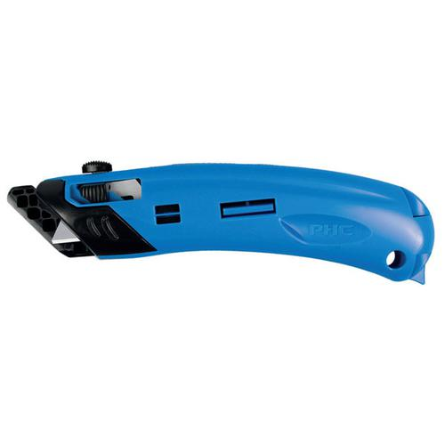 Pacific Handy Cutter Guarded Spring Back Safety Knife Ambidextrous Blue Ref EZ-4 *Up to 3 Day Leadtime*