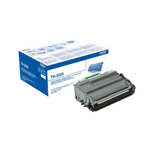 Brother Laser Toner Cartridge Ultra High Yield Page Life 20000pp Black Ref TN3520