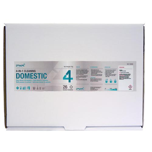 PVA Domestic 4-IN-1 Cleaning Sachets Mixed Pack PK26 Ref C1
