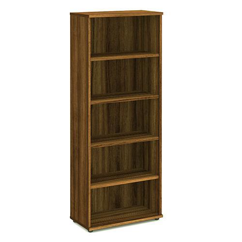 Trexus Office Very High Bookcase 800x400x2000mm 4 Shelves Walnut Ref I000112