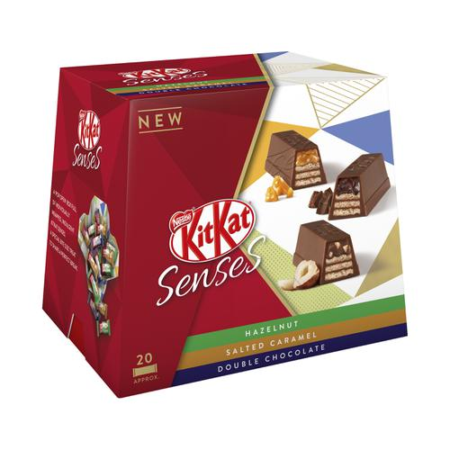 Nestle Kit Kat Senses Assorted Box 20 Bite Size Pieces 200g Ref 12351140