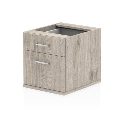 Image for Trexus 2 Drawer Fixed Pedestal 426x463x480mm Grey Oak Ref I003219