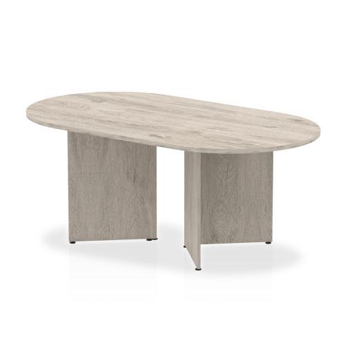 Trexus Boardroom Table Arrowhead 1800x1200x730mm Grey Oak