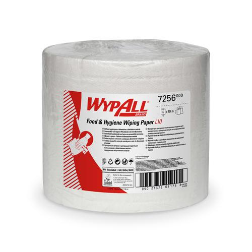 WypAll Food Hygiene Centrefeed L10 Sheet Size 380x195mm Ref 7256 [Pack 6]