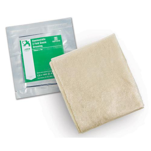 Cut-Eeze Haemostatic Gauze Dressing Z Fold in Foil Pouch Ref CM0562 *Up to 3 Day Leadtime*