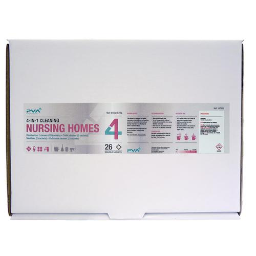 PVA Nursing Homes Cleaning Sachets Mixed Pack PK26 Ref C2
