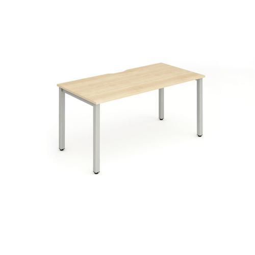Trexus Bench Desk Individual Silver Leg 1600x800mm Maple Ref BE126