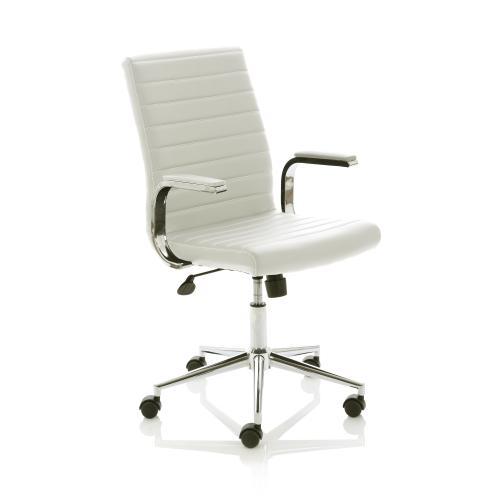 Trexus Ezra SoHo White Leather 480x460x490-590mm Ref EX000189