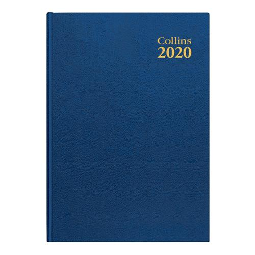 Collins 2020 Desk Diary Week to View Sewn Binding A4 297x210mm Blue Ref 40 Blue 2020