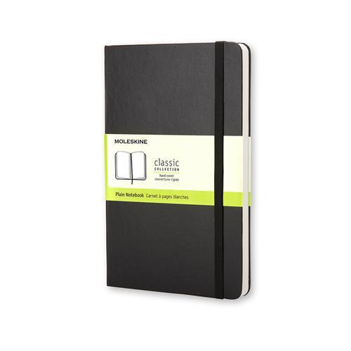 Moleskine Large Ruled Hardcover 240Pg 130x210mm Plain Black Ref QP062