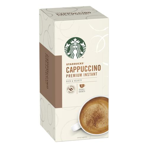 Starbucks Cappuccino Sachets 6 Boxes Each with 5 x 70g Sachets Ref 12431776