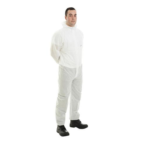 Supertouch Supertex SMS Coverall Type 5/6 Protection Extra Large White Ref 17604 *Approx 3 Day Leadtime*