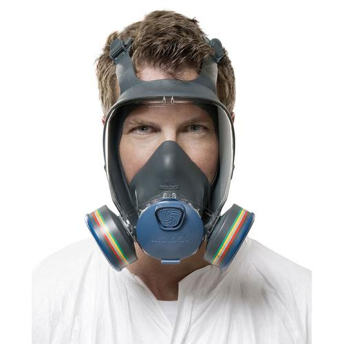Moldex 9000 Full Face Mask Lightweight Peripheral Vision Medium Grey Ref M9002 *Up to 3 Day Leadtime*