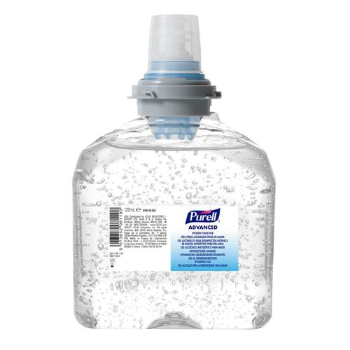Purell Hygienic Hand Rub TFX Gel Bottle 1200ml Ref N07778 [Pack 2]