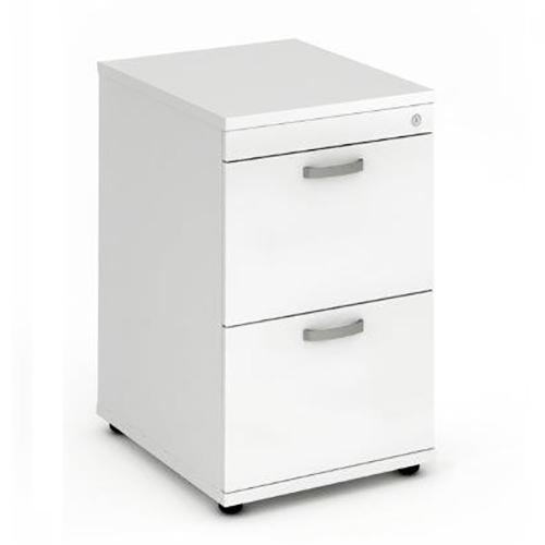 Trexus 2 Drawer Filing Cabinet 500x600x800mm White Ref I000192
