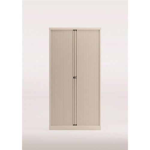 Trexus by Bisley Side Opening Tambour Door Cupboard 1000x470x1970-1985mm White/White Ref YETB1019.EW-ab9