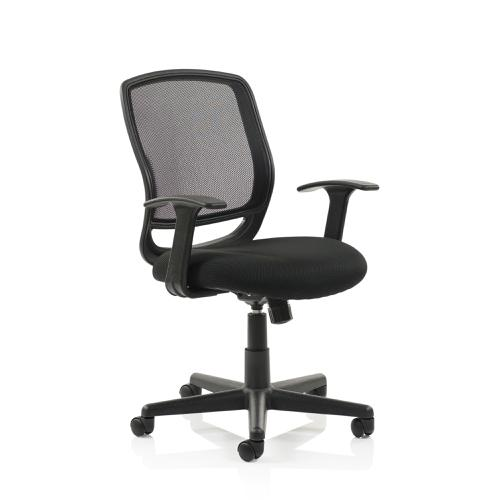 Trexus Mave Task Operator Chair With Arms Mesh Black Ref EX000193