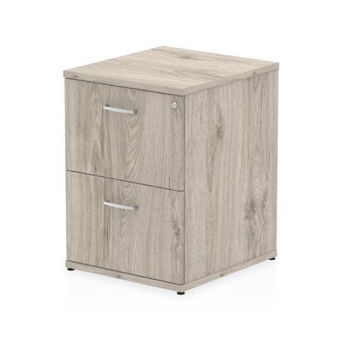 Trexus 2 Drawer Filing Cabinet 500x600x800mm Grey Oak Ref I003241