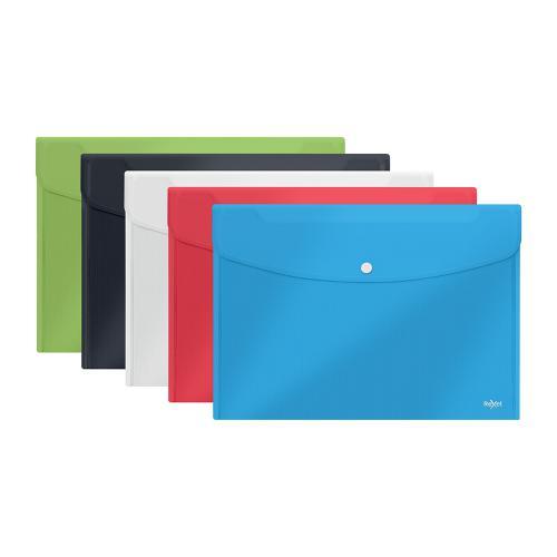 Rexel Choices Popper Wallet Press Stud A4 plus Astd Ref 2115672 [Pack 5]