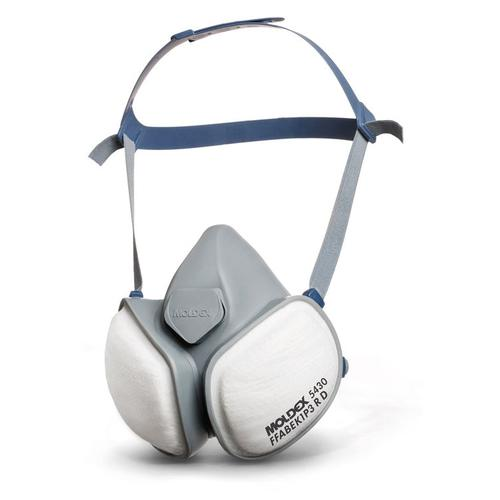 Moldex ABEK1P3R Half Mask with Pleated Filter Technology White Ref M5430 *Up to 3 Day Leadtime*