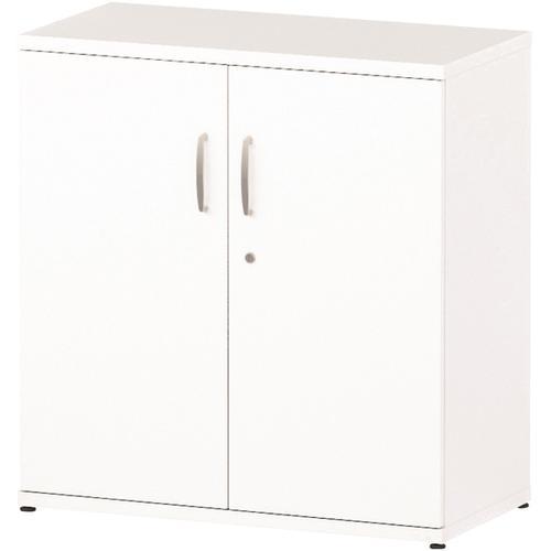 Trexus Office Low Cupboard 800x400x800mm 1 Shelves White Ref S00009